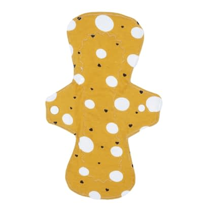 Reusable sanitary pad in mustard - front