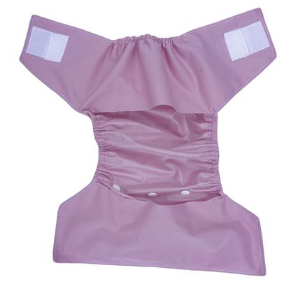 eusable nappy in blush rose - open