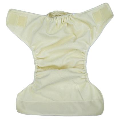 Open pocket nappy, soft yellow