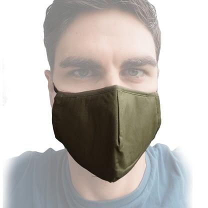 Face mask - Pocket - Khaki