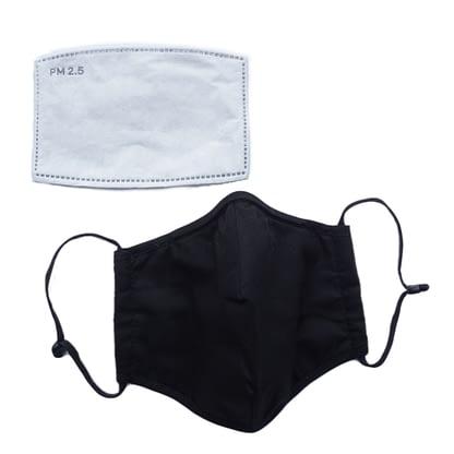 Face mask - Pocket with filter - Black