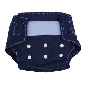 Reusable nappy in midnight denim blue