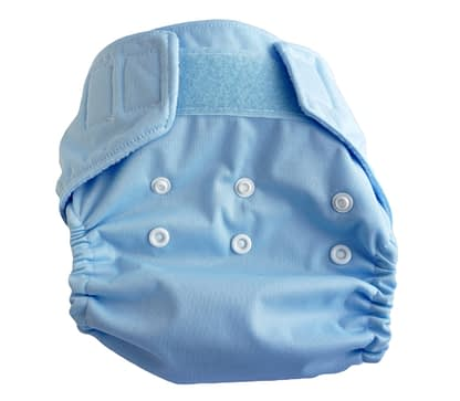 Pocket nappy in baby blue
