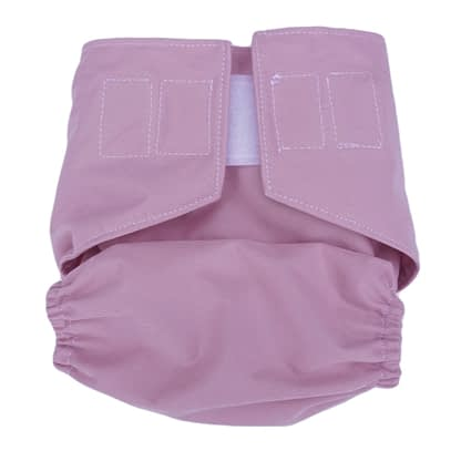 Reusable nappy in blush rose - snapped smaller