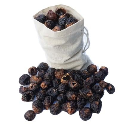 Soap nuts in muslin bag