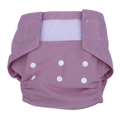 Reusable nappy in blush rose
