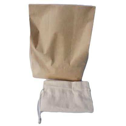 Soap nut in paper bag